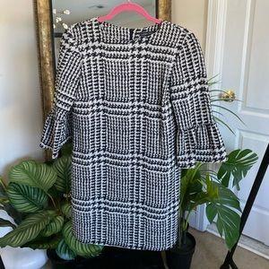 Zara Plaid Jacquard Print Dress